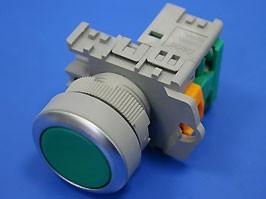 TN2BFG-1A, Кнопка управления плоская, без фиксации, d 30 мм, НР, зеленая