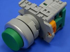 TN2BLG-1A, Кнопка управления выступающая, без фиксации, d 30 мм, НР, зеленая