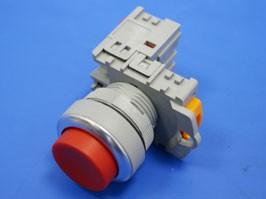 TN2BLR-1B, Кнопка управления выступающая, без фиксации, d 30 мм, НЗ, красная