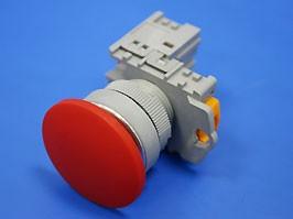 TN2BMR-1B, Кнопка управления грибовидная, без фиксации, d 38 мм, НЗ, красная
