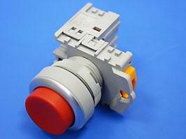 TN2BAR-1B, Кнопка управления выступающая, с фиксацией, d 30 мм, НЗ, красная