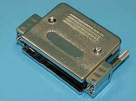 DNT-50C, Корпус разъема 50 контактов с удлиненными винтами, металлизированный