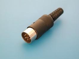 DN-8M1, Вилка DIN 8 контактов на кабель, 45 градусов