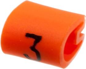 """EC0183-000 05811303, маркер """"3"""" на кабель 2-3.2мм оранжевый"""