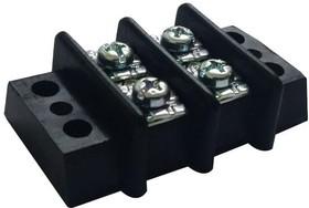 MC001346, Клеммная колодка с перегородкой в панель, винт M6, 2 ряда, 6 вывод(-ов), 22 AWG, 10 AWG, 14 мм