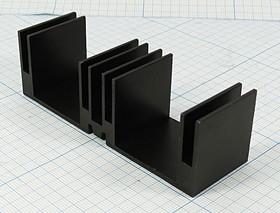Ребристый радиатор чёрного цвета, 12062 охладитель 96x 30x 30\L01\\Al\чер\HS156-30\