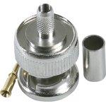 HYR-0105D (GB-105D) (BNC-7001D) (BNC-C174P), Разъем BNC, штекер, RG-174, обжим (Crimp)