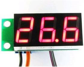 Фото 1/3 STH0014UR, Встраиваемый цифровой термометр с выносным датчиком (красный индикатор)