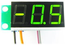 Фото 1/3 STH0014UG, Встраиваемый цифровой термометр с выносным датчиком ( зеленый индикатор)
