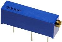 3006P-1-201LF, 200 Ом подстроечный резистор