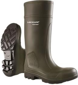 C462933.41, Purofort Green Steel Toe Women Safety Wellingtons, UK 7