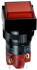 D16LMS1-1abGR кнопка без фикс. 250В/5А, с неон. подсветкой