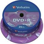 Фото 3/3 Verbatim 43500 DVD+R 4.7 GB 16x CB/25, Записываемый компакт-диск