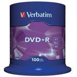 Verbatim 43551 DVD+R 4.7 GB 16x CB/100, Записываемый ...