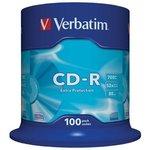 Verbatim 43411 CD-R 80 52x DL CB/100, Записываемый ...
