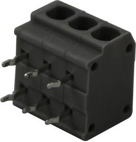 2834088-2, Клеммная колодка типа провод к плате, без винтов, 3.81 мм, 3 вывод(-ов), 20 AWG, 16 AWG, Зажим
