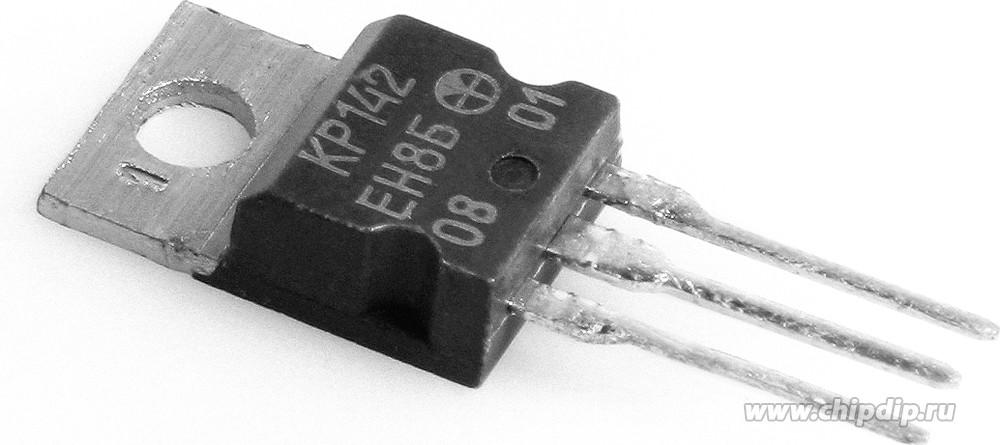 Мной был приобретён КР142ЕН8Б , который при поступающем напряжении 12-20в ( до 1,5А) .