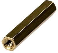 PCHSS-27, Стойка для п/плат,шестигр., латунь, М3, 27 мм