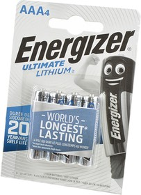 Energizer Ultimate LITHIUM FR03 BL4, Элемент питания