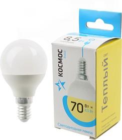 КОСМОС BASIC LED8.5wGL45E1430 8.5Вт E14 3000K BL1, Лампа светодиодная