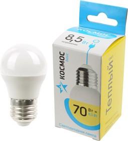 КОСМОС BASIC LED8.5wGL45E2730 8.5Вт E27 3000K BL1, Лампа светодиодная