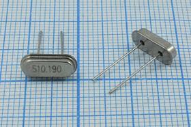 Фото 1/4 кварцевый резонатор 10.19МГц в низком корпусе HC49S, нагрузка 30пФ, 10190 \HC49S2\30\ 20\\49S3[SDE]\1Г (S10.190)