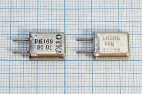 Фото 1/4 кварцевый резонатор 10.2МГц в металлическом корпусе с жесткими выводами МА=HC25U, 10200 \HC25U\\ 20\ 30/-30~60C\РК169МА-7БС\1Г