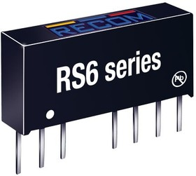 RS6-2405D, DC/DC CONVERTER ISOLATED +/-5V 6W