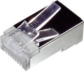 TP8P8C (RJ45) ВИЛКА CAT6E, 8P8C вилка эранированная телефонная RG45 на кабель Cat.6E   купить в розницу и оптом