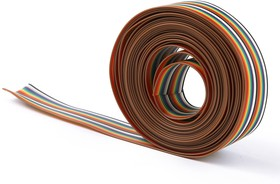 Шлейф цветной RCA 10 х 0,22 мм 1 метр