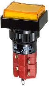 D16LMT1-2abKY кнопка без фикс. 250В/5А, LED подсветка 24В