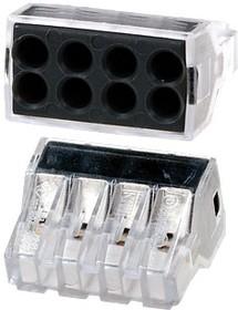 773-328, электромонтажные экспресс-клеммы, 8х2.50 кв.мм, без пасты