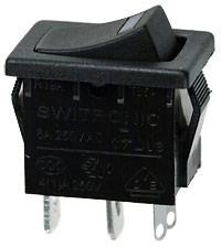 R19A-02IBBOTG-G выключатель ON-OFF 250В 6А с зелен. подсв. (SWR41)