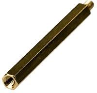 PCHSN-45 mm М3,латунь,шестигр.стойка для п/плат