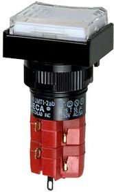 D16LMT1-2abKW кнопка без фикс. 250В/5А, LED подсветка 24В