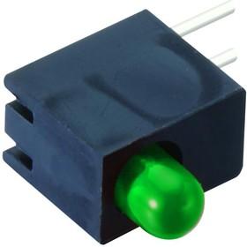 L514HGD, Индикатор печатной платы, без фланца, Зеленый, 1 светодиод(-ов), Сквозное Отверстие, 3мм, 20 мА