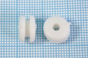 Втулка проходная резиновая под кабель диаметром до 3мм, белая, № 9939 W втулка проход\d 3,0x 6xd10\d 8x2,2\резин\бел\Mi3x6