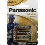 Фото 2/2 Panasonic Alkaline Power LR03 Power Rangers BL4, Элемент питания
