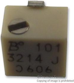 Фото 1/2 3224J-1-205E, Res Cermet Trimmer 2M Ohm 10% 0.25W(1/4W) 12(Elec)Turns 1.5mm (4.8 X 5 X 3.71mm) J-Hook SMD T/R