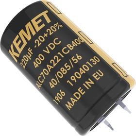 ALC70C272KP450, Электролитический конденсатор, 2700 мкФ, 450 В, ALC70 Series, 18000 часов при 85°C, ± 20%