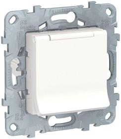 Механизм розетки UNICA NEW с защ. крышкой защ. шторки с заземл. 16А 250В IP40 бел. SchE NU503718TA
