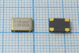 Кварцевый генератор 120МГц 3.3В,HCMOS/TTL в корпусе SMD 7x5мм гк 120000 \\SMD07050C4\T/CM\ 3,3В\EG-2002CA-DCZ\