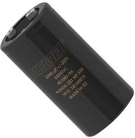 ALS61A332NP550, Электролитический конденсатор, долговечный, 3300 мкФ, 550 В, серия ALS61, 20000 часов при 85°C