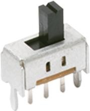 0S102011MA1QS1, Switch Slide ON ON SPDT Side Slide 0.1A 12VDC 10000Cycles PC Pins Bracket Mount/Through Hole Bulk
