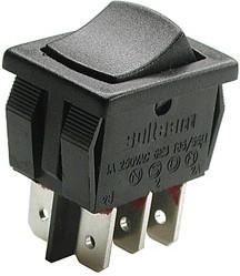 MR3-220-C2-BB (R13-66), Выключатель 2xON-ON (10A 250VAC)