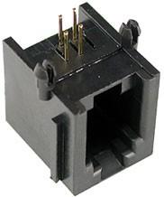TJ3A-4P4C розетка телеф. на плату тип 3A