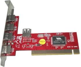 Контроллер PCI VIA6212 (4+1) 5xUSB2.0 Bulk [asia pci 6212 4p usb 2.0]