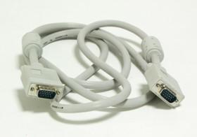 КАБЕЛЬ NONAME, Кабель VGA, VGA HD15 (m) - VGA HD15 (m), ферритовый фильтр, 1.8м