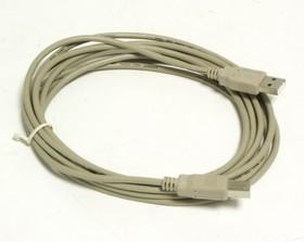 Кабель USB2.0 USB A (m) - USB B (m), 3м, серый