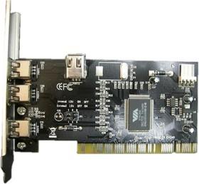 Контроллер PCI VIA6306 1xIEEE1394(4p) 3xIEEE1394(6p) Bulk [asia 6306 3p 1394]